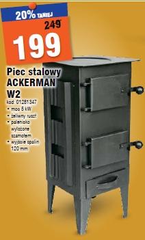 Piec stalowy ACKERMAN W2