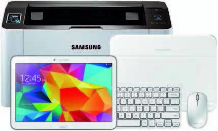Samsung  ZESTAW: TABLET GALAXY TAB4 10.1 WiFi, DRUKARKA LASEROWA SL-M2022W, KLAWIATURA EJ-BT230 iMYSZ BEZPRZEWODOWA ET-MP900DW ORAZ ETUI DO TABLETU