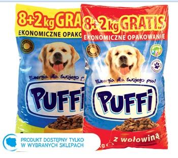 Karma dla psa sucha Puffi, 8+2 kg