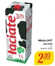 Mleko UHT Łaciate