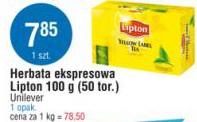 Herbata ekspresowa Lipton 100 g (50 tor.) Unilever