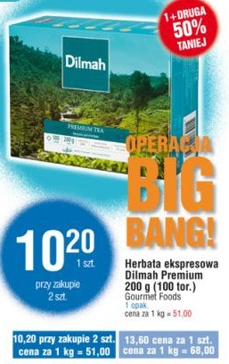 Herbata ekspresowa Dilmah Premium 200 g (100 tor.) Gourmet Foods