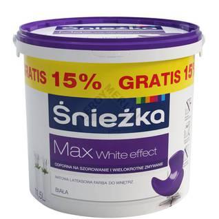 Farba lateksowa do ścian i sufitów MAX WHITE EFFECT ŚNIEŻKA