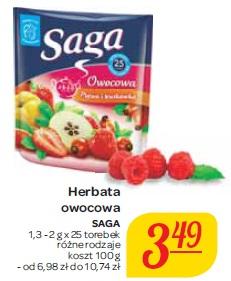 Herbata owocowa Saga