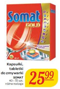 Kapsułki, tabletki do zmywarki Somat