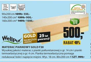 Materac piankowy Gold F30