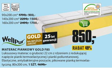 Materac piankowy Gold F85