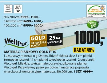 Materac piankowy Gold F110