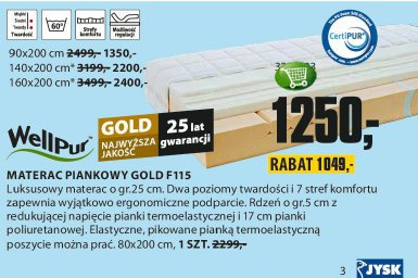 Materac piankowy Gold F115
