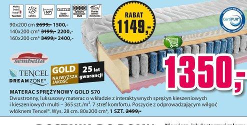 Materac sprężnowy Gold S70