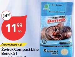 Żwirek Compact Line Benek 5 l