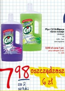 Płyn Cif Brilliance różne rodzaje Unilever