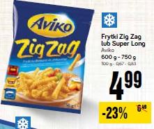 Frytki Zig Zag lub Super Long Aviko