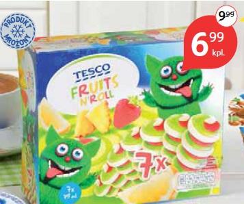 Multipacki lodowe Tesco Fruits N'Roll 7 x 75 ml lub Mini miks 8 x 50 ml