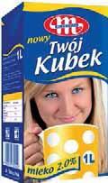 Mleko UHT Twój Kubek 2% 1 l