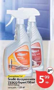 Środki do czyszczenia Tesco Expert 750 ml