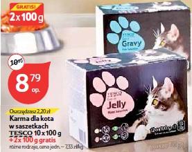 Karma dla kota w saszetkach Tesco 10 x 100 g + 2 x 100 g gratis