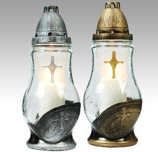 Znicz szklany złocony lub srebrzony, 150g