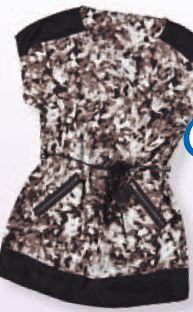 Tunika z nowoczesnym wzorem i zamkami