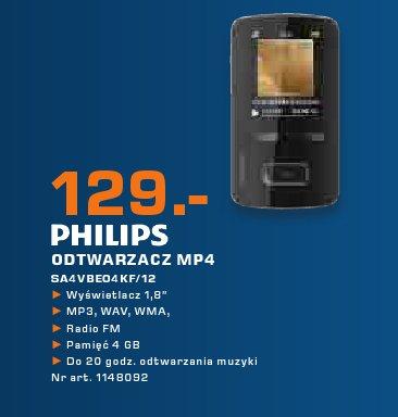 Philips ODTWARZACZ MP4 SA4VBE04KF/12