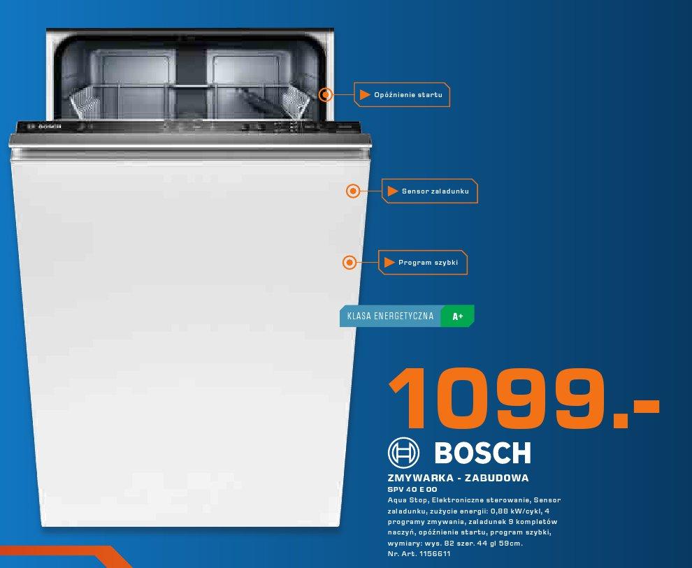 Bosch Zmywarka - Zabudowa SPV 40 E 00