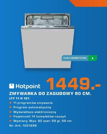 Hotpoint Zmywarka do zabudowy 60 cm. LT F 11 H 121