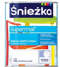 Emalia akrylowa do drewna i metalu Supermal 0,8 l
