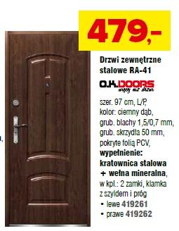 Drzwi zewnętrzne stalowe RA-41