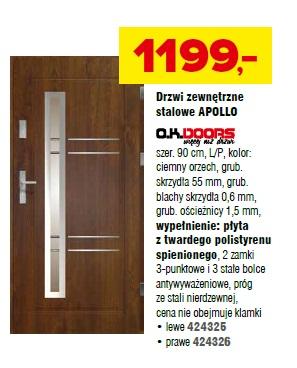 Drzwi zewnętrzne stalowe Apollo