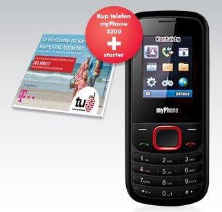 Telefon komórkowy myPhone 3200 + starter tu biedronka