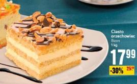 Ciasto orzechowiec Bizon