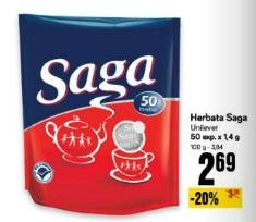 Herbata Saga Unilever