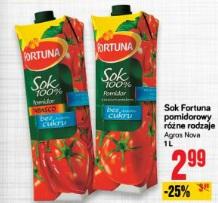 Sok Fortuna pomidorowy różne rodzaje Agros Nova