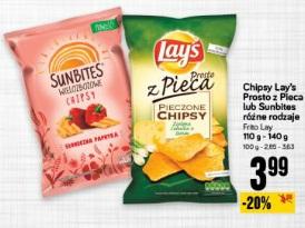 Chipsy Lay's Prosto z Pieca lub Sunbites różne rodzaje Frito Lay