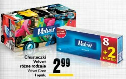 Chusteczki Velvet różne rodzaje Velvet Care