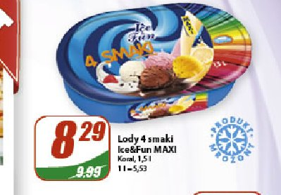 Lody 4 smaki Ice&Fun Maxi