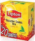 Herbata Lipton 100 tb.x 2 g + 20% gratis