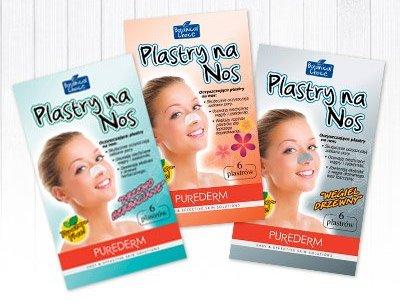 Plastry na nos oczyszczające pory Purederm, 6 szt.