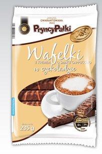 Wafelki PryncyPałki z kremem o smaku cappuccino w czekoladzie