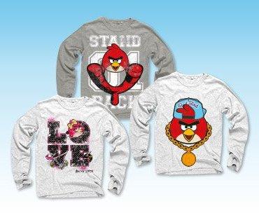 T-shirt dziecięcy z długim rękawem Angry Birds
