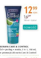 SORAYA CARE & CONTROL Żel + peeling + maska, 3 w 1, 150 ml, w promocji cała seria Care & Control