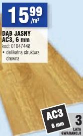 Dąb Jasny AC3, 6 mm