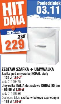 Zestaw szafka + umywalka
