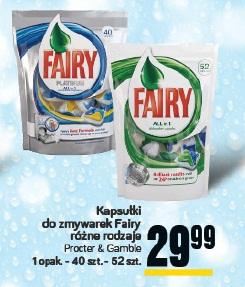 Kapsułki do zmywarek Fiary różne rodzaje Procter & Gamble