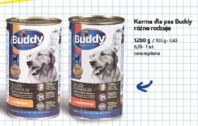 Karma dla psa Buddy różne rodzaje