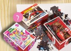 Puzzle 54 mini - różne wzory Trefl