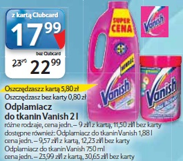 Odplamiacz do tkanin Vanish 2 l
