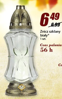 Zniczk szklany biały