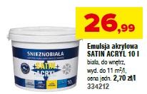 Emulsja akrylowa SATIN ACRYL 10 l