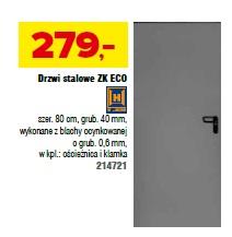Drzwi stalowe ZK ECO